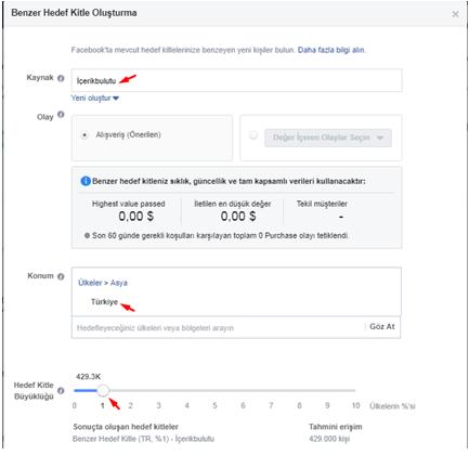 facebook benzer hedef kitle oluşturma