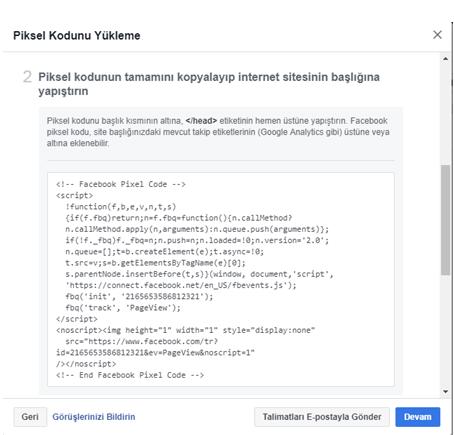 facebook pixel kodu