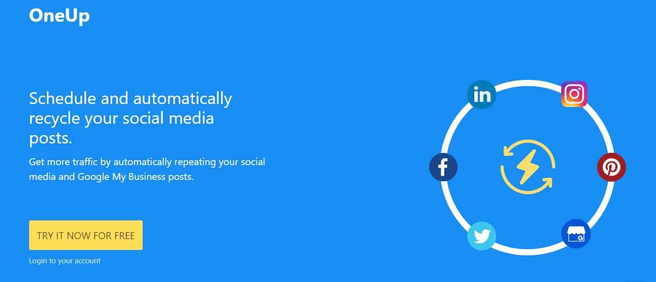 Oneupapp Sosyal medya araçları