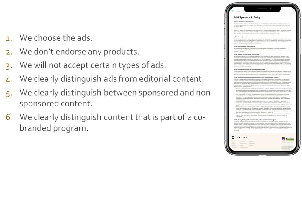 şeffaf reklam politikası